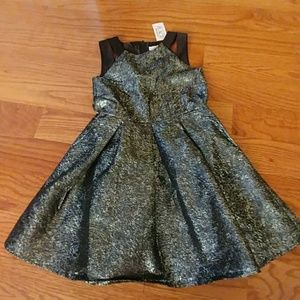 Fun metallic dress